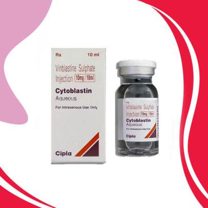 CYTOBLASTIN 10MG 10ML  Винбластин Сульфат Лечение рака.  Индия