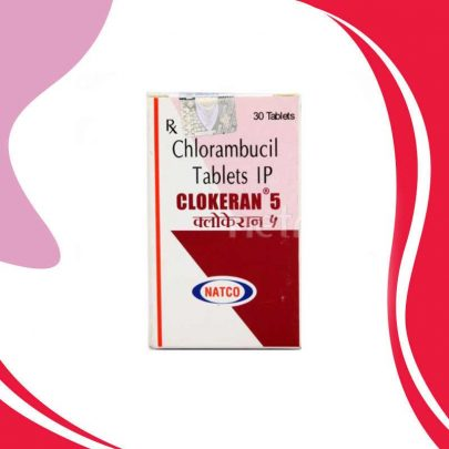 CLOKERAN  5MG 30TAB. Хлорамбуцил. Лечение опухолей. Индия