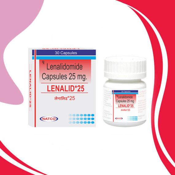 LENALID 25MG 30CAPS Леналидомид. Терапия рака. Индия