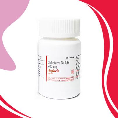 SOFOVIR 400 MG 28 TAB. Лечение Гепатита C всех Генотипов. ИНДИЯ